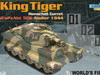 Dragon King Tiger Henschel Turret 2/sPzAbt 506 Andler 1944
